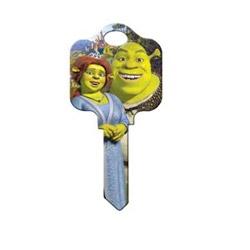Decorative Key Blank, Kwikset, Disney Shrek and Fiona Design