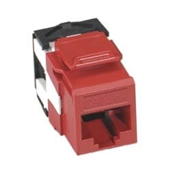 CAT 5E+ SNAP-IN JACK, T 568 A & B 110 TERMINATION JACK, 8P8C, QUICKPORT, COLOR ALMOND. ROHS COMPLIANT