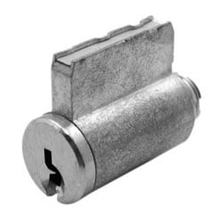 Cylinder Lock, Key-In-Knob, 6-Pin, Yale Keyway, 0-Bitted, Satin Chrome Plated, For Universal Lockset/Leverset/Padlock
