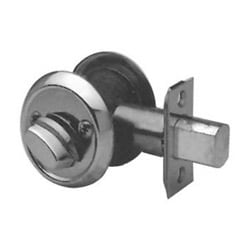 "Mortise Cylinder Deadbolt, Standard, Heavy Duty, 2-3/4"" Backset, Oil Rubbed Bronze, Without Single Cylinder"