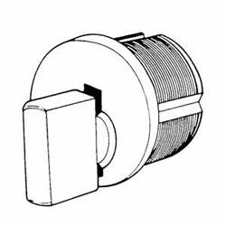 "Mortise Lock Cylinder, Turn Knob, Standard Cam, 1.15"" Diameter x 1-1/8"" Length, Duracolor Brown Aluminum"