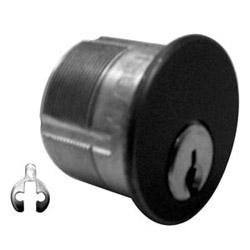 "Mortise Cylinder Lock, 5-Pin, Schlage C Keyway, 2 Keyed Alike, Adams Rite Cam, 1.36"" Diameter x 1"" Length, Duracolor Brown Aluminum"
