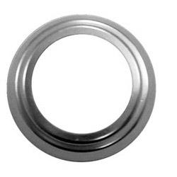 """Mortise Cylinder Collar, Adjustable Spring, 5/16 to 1-3/32"""" Adjustment, Solid Brass, Satin Chrome"""