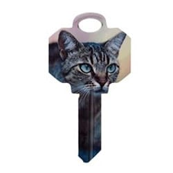 Decorative Key Blank, Personali-Keys, Kwikset/Titan, Kitten Design, Small Bow, Big Impact, KW Keyway, 43 Price Group