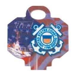 Decorative Key Blank, Personali-Keys, Kwikset/Titan, Coast Guard Logo, Small Bow, Big Impact, KW Keyway, 43 Price Group