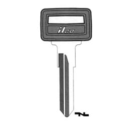 Vehicle Key Blank, Plastic Head, Brass, Nickel Plated, 10 Price Group, For Volvo