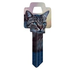 Decorative Key Blank, Personali-Keys, Weiser, Kitten Design, Small Bow, Big Impact, WR Keyway, 43 Price Group