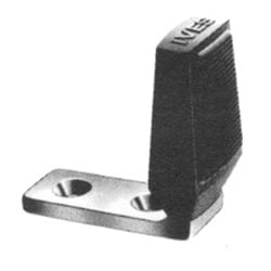 "Door Floor Stop, 2-3/4"" Length x 1-1/2"" Width x 2-5/8"" Height, Burnished Wrought Steel, Zinc Plated"