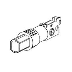 "Door Lock Latch, 2-3/4"" Backset, Round Face, For 660 Deadbolt"