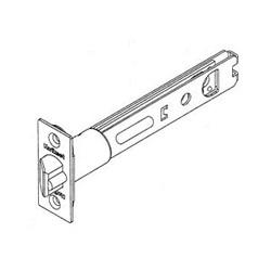 """Door Lock Deadlatch, 5"""" Backset, Square Corner, Polished Brass"""