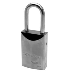 "Padlock, Proseries, Keyed Different, 1-9/16"" Width, 1-9/16"" Shackle Clearance, Solid Steel, Without Cylinder"