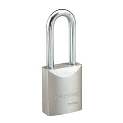 """Padlock, Proseries, Keyed Different, Zero Bitted, Rekeyable, Key-In-Knob, Boron Shackle, 1-3/4"""" Width, 2-1/2"""" Shackle Clearance, Solid Steel, With Yale 8 and 6-Pin Cylinder"""