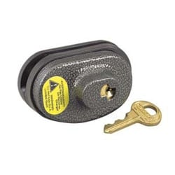 Cable Lock, Keyed Alike, Gun Trigger, 4-Pin Tumbler Cylinder, Steel and Zinc Body, With P413 Key
