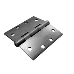 "Oil Bearing Hinge, Standard Weight, Full Mortise, 5-Knuckle, 8-Hole, 4-1/2"" Length x 4-1/2"" Width x 0.134"" Thickness, Steel Base, Satin Bronze"