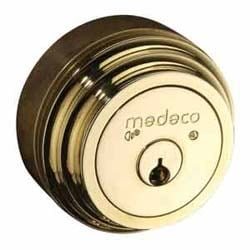 Door Deadbolt, Medeco3, 5-Pin, Residential Trim, Cylinder x Cylinder, DL Keyway, Pinned, Satin Nickel, Without Bolt
