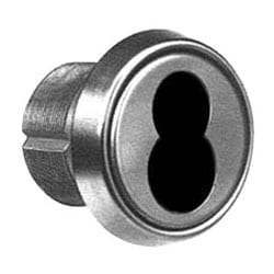 """Mortise Lock Cylinder, Disposable Construction Core, 1-1/4"""", Satin Stainless Steel, With 101 Cam"""