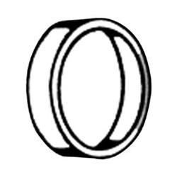 """Serrure de blocage anneau, 3/8"""" longueur, huile frotté le Bronze, pour cylindre de serrure de porte"""