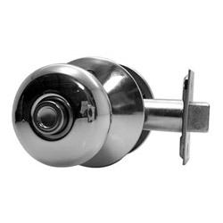 Door Lock, dépourvu, bouton de Plymouth, laiton brillant, pour lit/bain