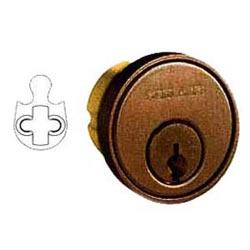 """Cylindre de serrure de porte, clé, C rainure de clavette, 1-1/8"""" longueur, huilé Bronze"""