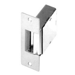 Door Electric Strike, Intermittent, 8 to 16 Volt AC, 1.3 to 2.7 Ampere, 1000 Lb Static Load, Satin Chrome Plated, With Faceplate, For Wood Jamb and Iron Gate
