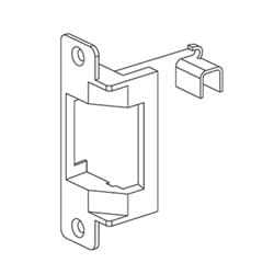 Door Exit Device Electric Strike, Fail Safe, Aluminum, Satin Stainless Steel, 12 Volt DC, For Mortise/Cylindrical Lock