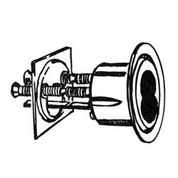 Mortise Lock Cylinder Housing, Standard, Satin Chrome, For 7-Pin Cylinder