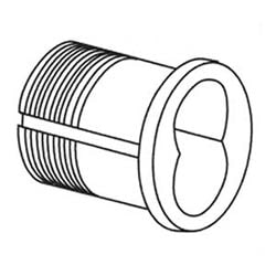 Lock Cylinder Housing Assembly, 6-Pin, Satin Chrome Plated, For Mortise Cylinder