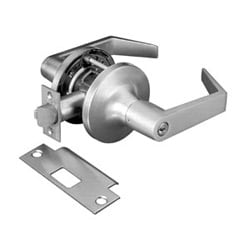 "Cylindrical Lever Lock, Augusta, Grade-1, 2-3/4"" Backset, Satin Chrome Plated, For Entry"