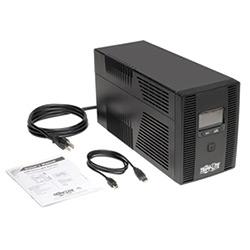 SmartPro LCD 120V 50/60Hz 1500VA 900W Line-Interactive UPS, AVR, Tower, LCD, USB, 10 Outlets