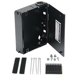 Single-Panel Housing, DIN rail-mountable, holds 1 CCH connector panel, Black, 6.3 in. H x 5.5 in. W x 2 in. D