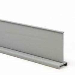 "Wiring Duct Divider, 2"" High, PVC, Gray, 120ft/pkg."