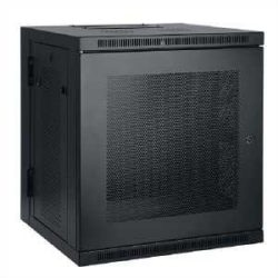 Tripp Lite 10U Low-Profile Wall-Mount Rack Enclosure Cabinet, Double Hinge, Removable Side Panels, 22H x 24W x 22D