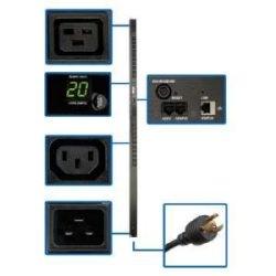 3,2-3,8kW surveillé monophasée 200-240V points (20-C13, 4-C19), PDU, 0U Vertical, 70 po, TAA, C20/L6 - 20P