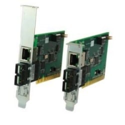 Fast Ethernet PCI Converters 100BASE-TX (RJ45) [100 m/328 ft.] to 100BASE-FX 1300 nm multimode (SC) [2 km/1.2 miles]