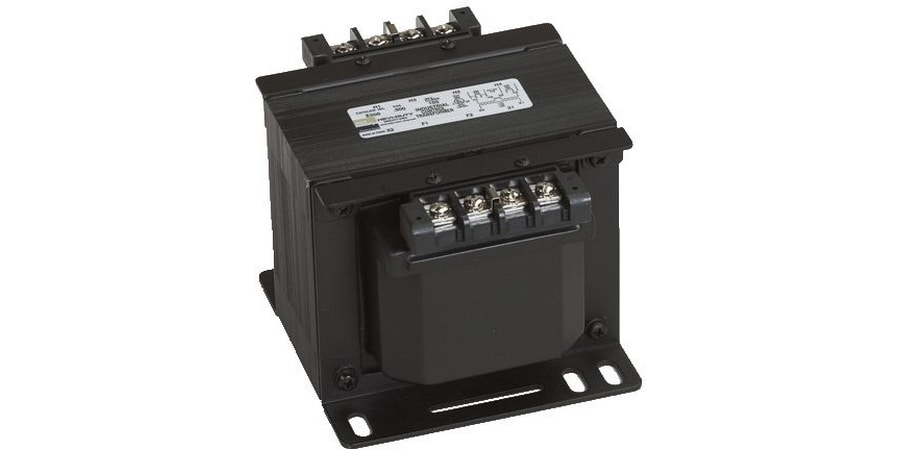"""SBE - encapsulated, industrial control transformer, Copper Wound Series, 100 VA, factory installed primary fuse holder Class """"CC"""" and secondary fuse holder (Midget Cartridge, 13/32"""" x 11/2"""" fuse), finger safe covers included"""