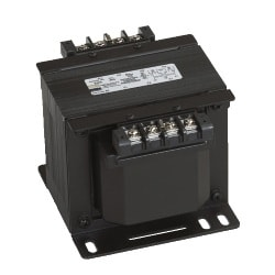 "SBE - encapsulated, industrial control transformer, Copper Wound Series, 100 VA, factory installed primary fuse holder Class ""CC"" and secondary fuse holder (Midget Cartridge, 13/32"" x 11/2"" fuse), finger safe covers included"