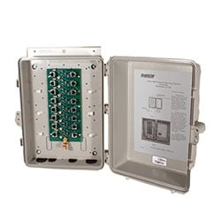 Advanced Lightning Protection Unit, Surge Protector, Outdoor, Eight Port, Shielded RJ45 PoE