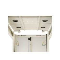 42U SmartRack White Standard-Depth Rack Enclosure Cabinet with doors & side panels
