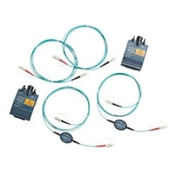 Set of two DTX Encircled Flux Multimode Fiber Modules + EFTRC, each incorporating; 850 nm and 1300 nm LED sources (single output port); Set of Encircled Flux test reference cords; Removable SC power meter port adapter; Power meter and Integrated VFL