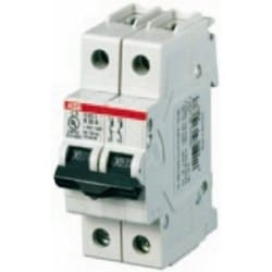 S 200 U miniature circuit breaker, 2 poles, 480Y/277 V AC, tripping characteristic K, 3 AMP