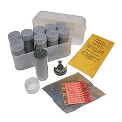 Remote ignition exothermic weld metal, #115 cartridge size. Includes ignition strip, steel disk, and starting powder (not needed with remote ignition).