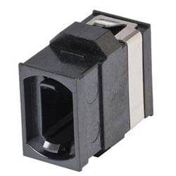 Fiber Optic Adapter, MTP, Reduced-Flange Mount, OM4+/OM4/OM3/OM2/OM1/OS2, black