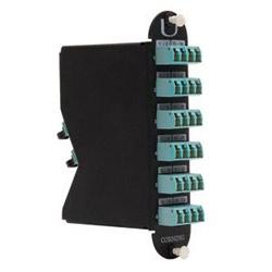 Plug & Play(TM) Universal Module, LC, 24 fiber, Shuttered LC to MTP, 62.5 µm multimode (OM1)