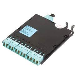 Module de solutions Pretium EDGE, fibre 12, LC Duplex à connecteur PSG, 50µm multimode (OM3)