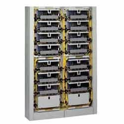FDC Unit with capacity for (12) 6-in FDC Connector Panels or Modules and (14) 0.4-in (Type 4R, 4S, 4A) splice trays