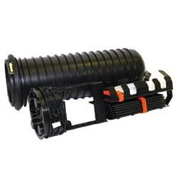 Splice fermeture fibre (SCF), préchargé, 72 épissure de fibre unique capacité, 6-en diamètre longueur 22-en dôme, avec des plateaux d'épissure