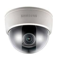 """Camera Dome analogique, 1/3"""" CCD, objectif à focale variable (700,2-8 mm), électronique D/N, TVL 10 24 V AC/12 V DC"""