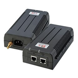 1-Port High-Power, 40W Per Port, 10/100/1000 BaseT Midspan with Lightning Protection