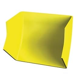 OptiWay 300 45-degree Outside Angle, 300 mm X 100 mm, Yellow, Requires two OPW-30J