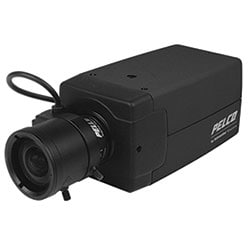 Security Analog Camera, Box, Color, 650 TVL, 1/3 in. CCD, 12/24 V, NTSC